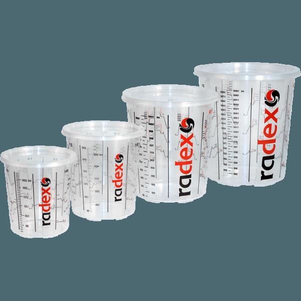 RADEX PREMIUM MIX CUPS AND LIDS